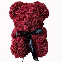 Bordo rožių meškutis 20cm