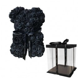 Juodas rožių meškutis 20cm