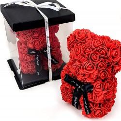 Raudonas rožių meškutis 20cm