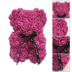 Violetinis rožių meškutis 20cm