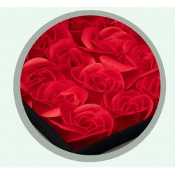 """Rožės iš eterinio aliejaus ir muilo + pakabukas """"Myliu"""""""