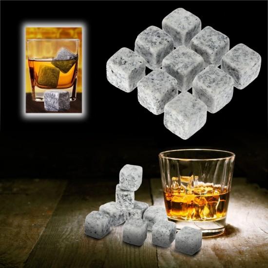 Akmens kūbeliai šaltam gėrimui
