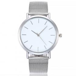 Sidabro spalvos moteriškas laikrodis