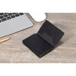 Juodas medžiaginis dėklas kortelėms